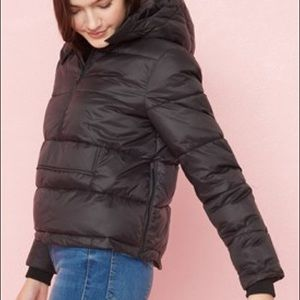 Midi pullover puffer jacket